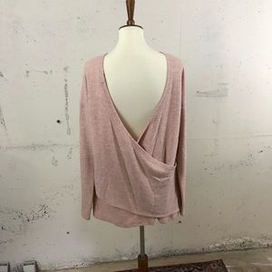 J Crew pink reversible sweater